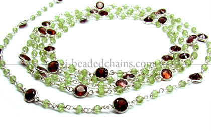 Gemstone Beasd, Beaded Chains