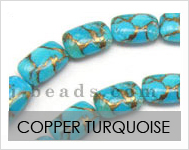 Copper Turquoise Beads